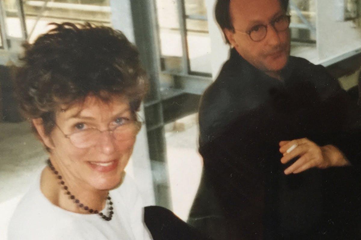 Anna Tilroe en Jan Vercruysse, Rijksakademie, ca. 1988, foto Batopillo Tornado