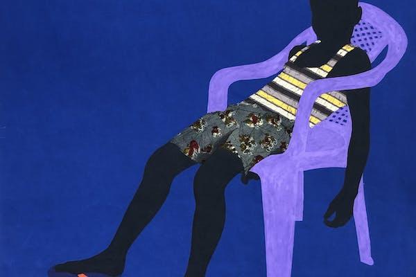 Raphael Adjetey Adjei Mayne, Purple chair, 2019, courtesy van de kunstenaar en Geukens & De Vil