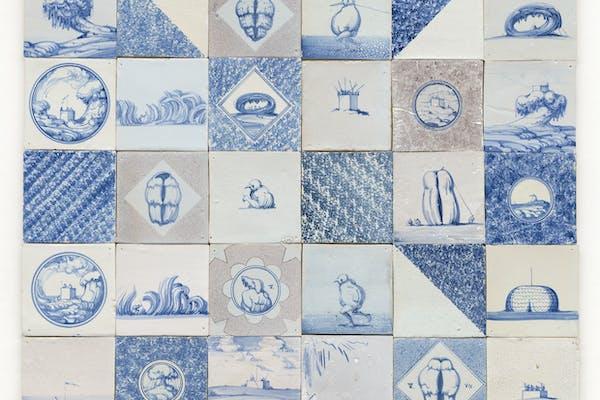 Tinus Vermeersch, Tegels , – foto Dirk Pauwels, courtesy Be-Part Platform voor Actuele Kunst