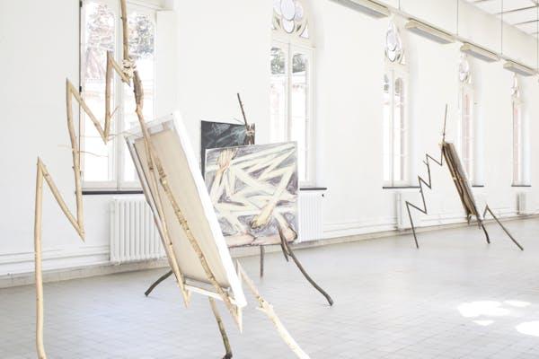 Jonas Dehnen, installatie zicht, graduation show, KASK Gent, 2019