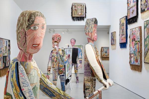 Klaas Rommelaere, Dark Uncles, 2020, installatiezicht Galerie Zink, foto Erich Spahn/Galerie Zink