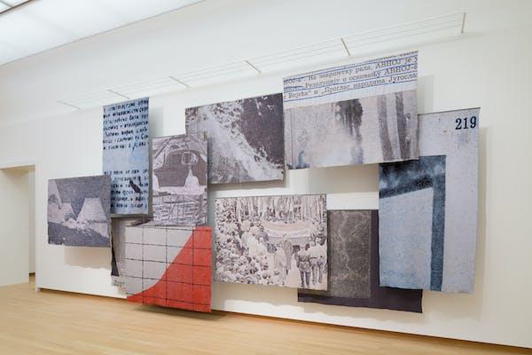 Kristina Benjocki, Study of Focus, 2014, installatiezicht in In the Presence of Absence. Voorstellen voor de museumcollectie, foto Peter Tijhuis