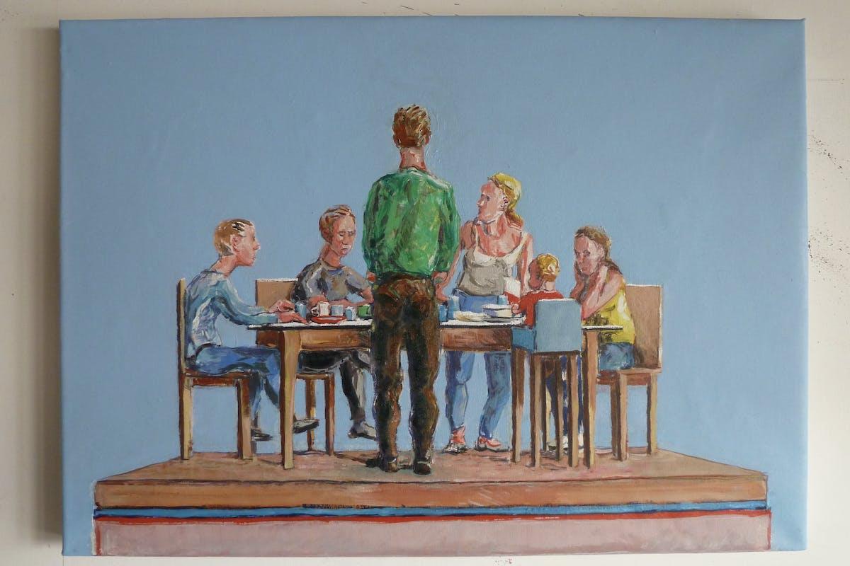 Yannick Ganseman, Family II , 2015, oil on canvas, 70 x 50 cm, copyright Yannick Ganseman