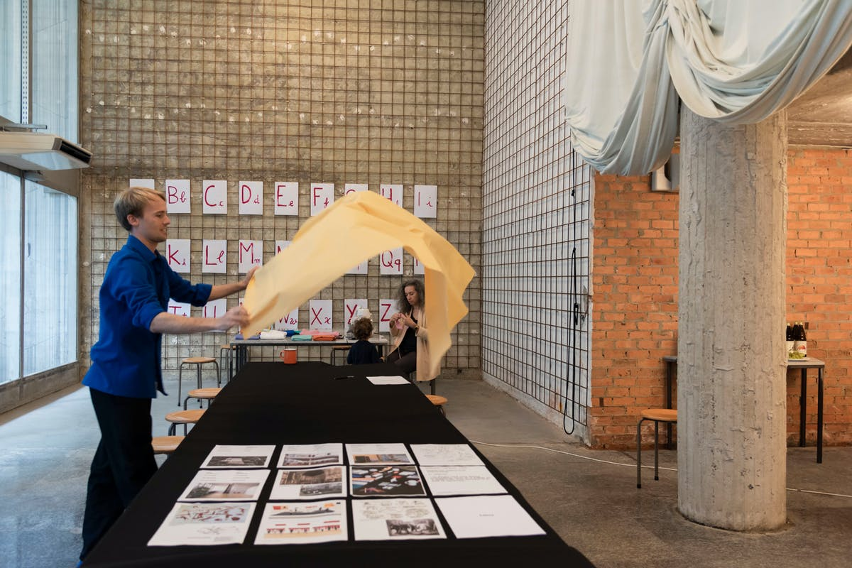 Foto genomen tijdens archiweek workshop op 28 en 29 augustus 2021 in StamEuropa, foto Sepideh Farvardin.