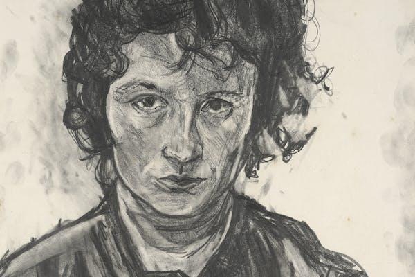 Allie Eagle, Self Portrait, Grafiet op papier, Collectie van Christchurch Art Gallery Te Puna o Waiwhetū, gekocht 2012