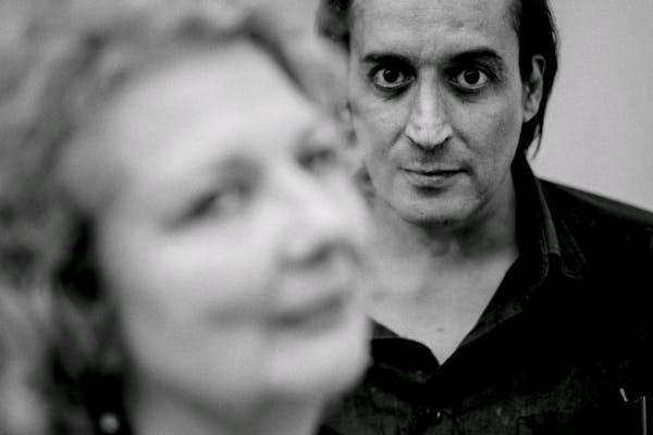 Marlene Dumas en Hafid Bouazza. Foto (c) Corbino, 2019