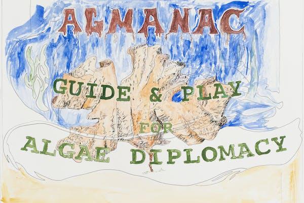 Filip Van Dingenen, Algae Diplomacy - Almanac series , Aquarelle on paper, 50 x 65 cm, 2021