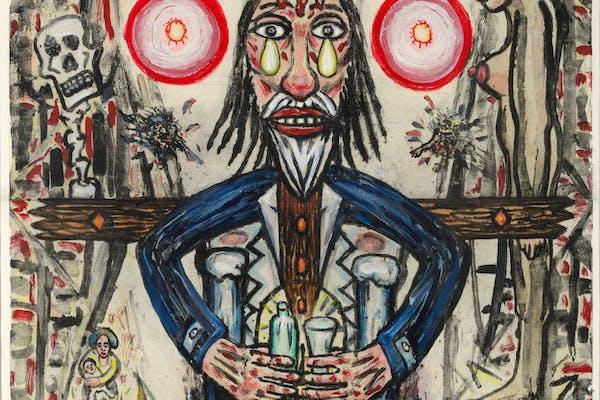 Fred Bervoets, 'Droevige drinker', 2020, – courtesy De Zwarte Panter