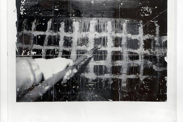 Philippe Van Wolputte, T.P.E.S. 00 , monoprint on rubber sheet, 84 x 84 cm, 2004.