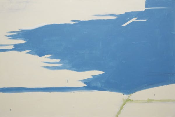 Koen van den Broek, Blue East, 2011, oil on canvas, 160 x 240 cm