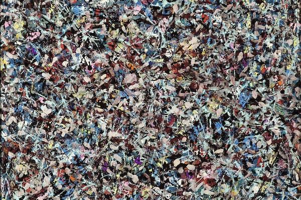 Lee Krasner, Shattered Color , 1947, oil on canvas, 53.3 × 66 cm, Guild Hall Museum, East Hampton, New York – © The Pollock-Krasner Foundation