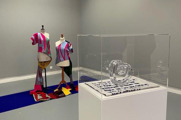 Lieven De Boeck, installatiezicht The curator is absent , White House Gallery, 2021
